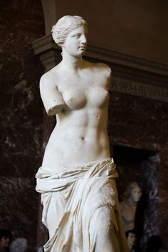 Venus De Milo, Ancient Greek Sculpture in the Louvre, Paris