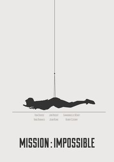 Mission : Impossible - minimalist poster