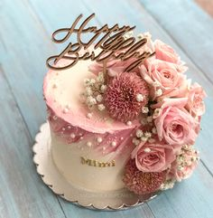 Flower butter cream cake Blume Buttercremekuchen - 0 Source by Beautiful Birthday Cakes, Birthday Cake With Flowers, Beautiful Cakes, 40th Birthday Cakes, Birthday Cakes For Women, Birthday Cake For Mom, Birthday Ideas, Bolo Glamour, Glamour Cake