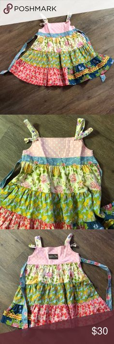 Matilda Jane knot dress Matilda Jane knot dress, has a sweet, vintage feel.  My daughter loved wearing this with brown boots and a polka dot MJ top.  Smoke-free, pet-free home Matilda Jane Dresses Casual