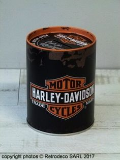 Tirelire métal Harley-Davidson Motor Nostalgic Art Nostalgic Art, Harley Davidson Motor, Coffee Cans, Decoration, Canning, Metal, Passion, Motors, Money Box
