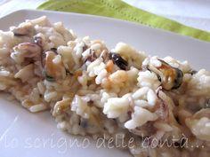 risotto di pesce con  molluschi e crostacei