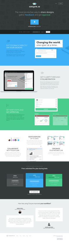 A tool for designers, illustrators, photographers to easily share their work, gather feedback and get approval. Design Web, Layout Design, Coding Websites, Cool Websites, Flat Ui, User Interface Design, Web Design Inspiration, The Conjuring, Change The World
