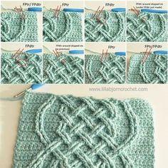 Celtic Tiles Blanket - FREE overlay crochet pattern by Lilla Bjorn