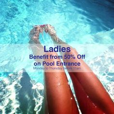Ladies benefit from 50% Off on Pool Entrance at Riviera Beach Resort (Monday to Thursday before 11am)  #rivierahotelbeirut #riviera #hotel #summer #time #lebanon #beiruthotel #whatsuplebanon #WeAreLebanon #beirut #beach #beirutcocktailfactory #resort #weekend #fun #chill #relax #hot #summer #beach #ladies #lady