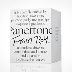 Traditional Italian Panettone in a modern black and white packaging Branding And Packaging, Packaging Box, Cosmetic Packaging, Beauty Packaging, Skincare Branding, Glass Packaging, Web Design, Label Design, Package Design