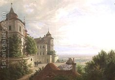 View with the Courtyard at Jezeri Castle, 1843 by Carl Robert Croll