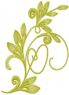Green swirl free embroidery design - Decoration element - Machine embroidery forum