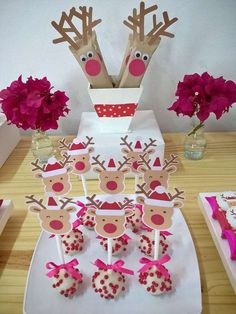Loving the cake pops at this Christmas Party! See more party ideas and share yours at CatchMyParty.com