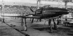 The Kyūshū Shinden fighter was a Japanese prototype with wings at the rear of the fuselage, a nose mounted canard, and pusher engine. Navy Aircraft, Ww2 Aircraft, Military Aircraft, Kyushu, Lightning Fighter, Imperial Japanese Navy, Experimental Aircraft, Ww2 Planes, Aircraft Design