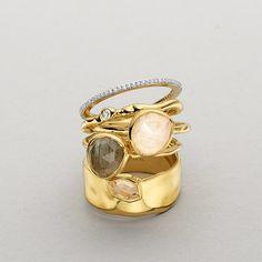Stunning! Monica Vinader Siren and Skinny Diamond Eternity Ring stack #MonicaVinader