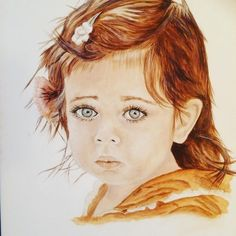 Last one from the portrait archives. Limited color palette again. this sweet little one has eyes as blue as the sky. Fun to paint, but… Last One, Keys, Mona Lisa, Original Art, Palette, Watercolor, Ink, Portrait, Sweet