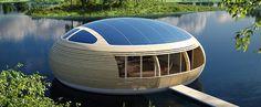 Casa flotante con energia solar