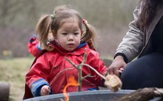 Open fires are a hallmark of Forest schools.