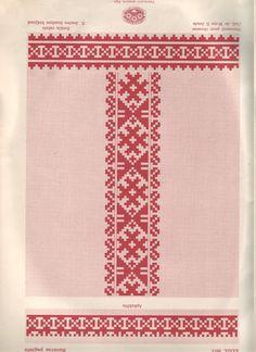Sieviešu krekla izšuvums - Traditional embroidery pattern of womens' shirt - Rucava, Latvia