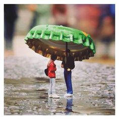 Very cool this Miniature!! Muito legal esta Miniatura!! Unknown modeler From: pinterest  #scalemodel #hobby #miniatura #modelismo #modelism #champinha #rain #chuva #scalemodelkit #maqueta #maquette #modelisme #miniature #diorama