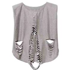 Padded shoulders cutout top - What's new Style by Marina - StyleSays Ripped Shirts, Cut Shirts, Cut Out Top, T Shirt Diy, Outfit Goals, Diy Clothes, Fashion Outfits, Fasion, Style Inspiration
