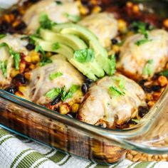 Southwest Chicken Bake - One pan and a few ingredients...oh and did I mention healthy too?