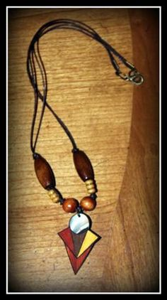 Recycled pieces make a great necklace!