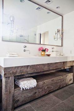 Timber vanity.