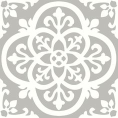 With light grey and white hues, these floor tiles have a chic farmhouse style. Their intricate ironwork design has a gothic flair. Medina Peel & Stick Floor Tiles contains 10 pieces on 10 sheets that measure 12 x 12 inches. Peel And Stick Floor, Peel And Stick Vinyl, Home Depot, Luxury Vinyl Tile, Luxury Vinyl Plank, Vinyl Tile Flooring, Bathroom Flooring, Kitchen Flooring, Wood Tiles