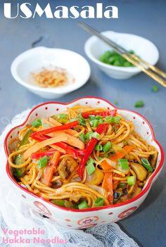 Vegetable Hakka Noodles/Vegetable Chowmein