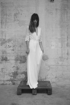 Robe: June - Photographe: Romina Shama - Assistant Photo: Vincent Vandries - Modèle: Louise Follain - Coiffure: Leïla A - Maquillage: Corinne Fouet #elisehameau2017 #robedemariée #weddingdress