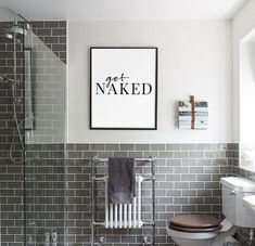 Master Bathroom design just isn't an easy thing to get right, particularly if you have a small bathroom. These images may help inspire your perfect master bathroom this is certainly both beautiful and practical Bathroom Prints, Bathroom Wall Art, Bathroom Humor, Bathroom Signs, Bathroom Interior, Modern Bathroom, Small Bathroom, Teen Boy Bathroom, Bathroom Cabinets