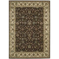 Nourison Persian Arts Collection Area Rug, Brown