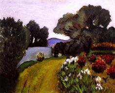 In the Nice Countryside, Garden of Irises / Henri Matisse - 1919
