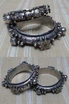 Mauritania | Pair of original old style silver bracelets | Posted on Tingitane Jewels, Facebook page