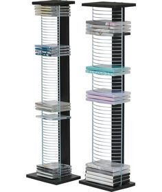 Buy DVD and CD Media Storage Tower Unit - Black and Silver at Argos.co  sc 1 st  Pinterest & Buy HOME Twister CD and DVD Media Storage - Black at Argos.co.uk ...