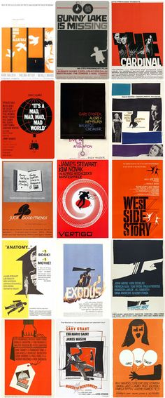 Saul Bass, Happy Birthday — …born in New York City in 1920. He is known as one of the best ever graphic designers for film, as he has created the credits and title sequences of over 60 films, he has often worked with directors Martin Scorsese, and especially Alfred Hitchcock on his very famous film Psycho, of which he designed the titles... http://filmfun.tumblr.com