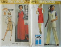 Vintage 1970s Easy Sew Patterns-Maxi-Dress or Tunic-Bust 34-Simplicity 5353 & 9461 Uncut. $7.00, via Etsy.