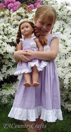 Flutter Sleeve Doll Dess pattern