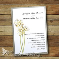 Affordable Daisy Layered Wedding Invites