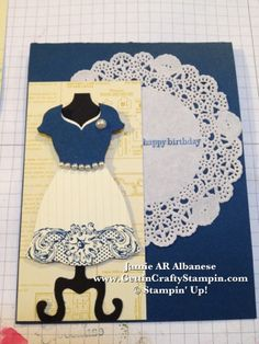 Gettin' Crafty Stampin' with Jamie: Lacy dress type of day