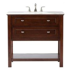Home Decorators Collection Austell Espresso 37 in. Vanity in Espresso with Marble Vanity Top in White-1939100800 - The Home Depot