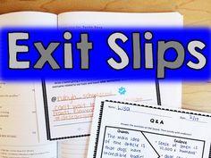 exit slips for upper elementary - quick assessment strategies - print & go! no prep
