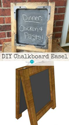 DIY Chalkboard Easel, MyLove2Create  Featured at #CreateItThursday!