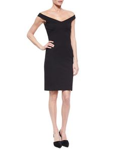 Off-The-Shoulder Ponte Dress by Nicholas at Neiman Marcus.