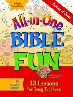 All-in-One Bible Fun is the perfect children's program for teachers on a budget or looking for a simpler approach. Each book is a collection of 13 Bible lessons for children containing a plan with ope