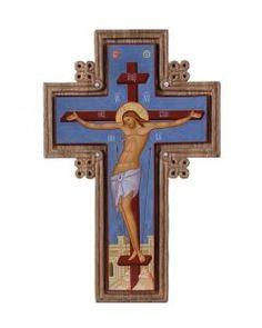Analogion Cross  $757.00. #CatalogOfGoodDeeds #cross #handmadecrosses #forgedcross #steelcross #handmadeitems #blacksmithworkshop #forgeditems #woodencross #carvedcross #buycross #ordercross #orthodoxcross