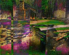 Log Cabin Abstract 8x10 Color Photo, Outdoor Historic Structure, Great Smoky Mountains National Park, Signed Home Decor, Unframed Wall Art via The Corner Stone Cowboy. Click on the image to see more!