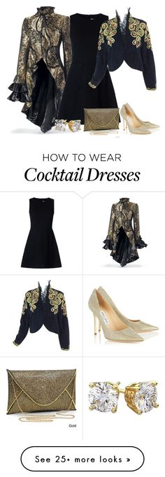 """Cocktails anyone......which jacket shall I wear?"" by binkie211 on Polyvore featuring RED Valentino, Dasein, Jimmy Choo and Diamondsy"