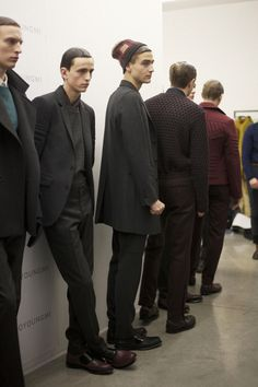 Backstage action from the WOOYOUNGMI AW13 show.