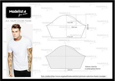🖐APRENDE A CONFECCIONAR T-SHIRTS PASO A PASO GUÍA COMPLETA ONLINE PARA PRINCIPIANTES 🖐 Mens Sewing Patterns, Sewing Men, Clothing Patterns, Flat Drawings, Paper Clothes, Modelista, Fashion Project, Pattern Cutting, Pattern Drafting