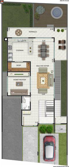 Pinterest: @claudiagabg | Casa 4 pisos 3 cuartos 1 estudio jacuzzi y Apartamento en alquiler con 3 cuartos / planta 3