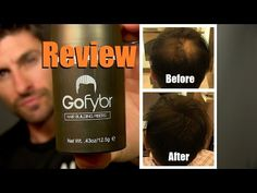 How To Make Thinning Hair Look Thicker | Gofybr Review and Test Application - YouTube