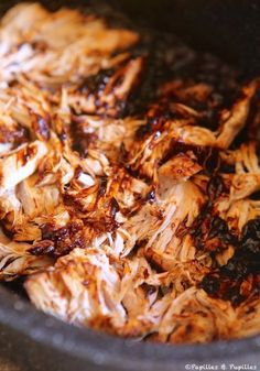 Pulled pork ou porc effiloché - Papilles et pupilles